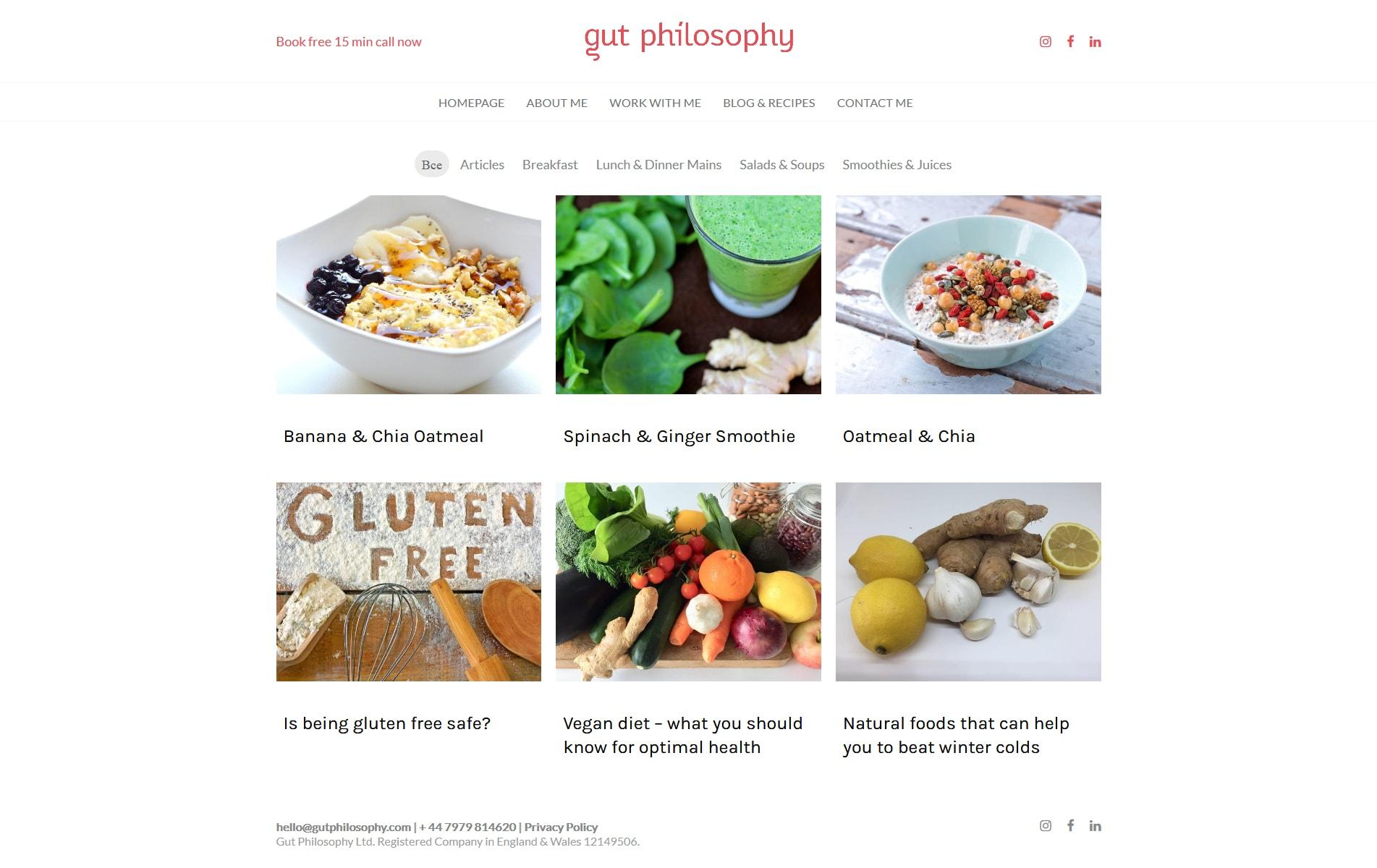 Gutphilosophy. Персональный сайт нутрициолога (диетолога)